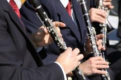 Игроки кларнета Стоковое Изображение RF
