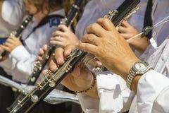 Игроки кларнета Стоковые Изображения RF