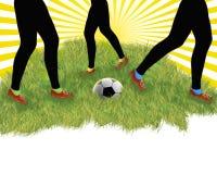 игроки ног футбола Стоковое фото RF