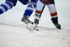 Игроки спорта хоккея на льде Стоковые Изображения