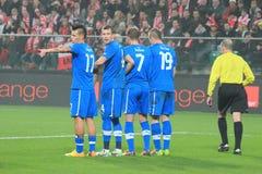 Игроки Словакии Стоковое Фото