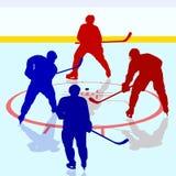 Игроки хоккея на льде иллюстрация вектора