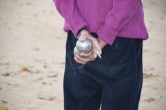 игроки bocce шарика Стоковое Изображение
