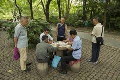 Игроки n Шанхай домино, Китай Стоковая Фотография RF