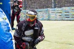 игроки 2 paintball Стоковые Фотографии RF