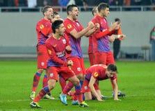 Игроки Steaua Бухареста стоковые изображения
