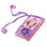 Игрок акварели детей шаржа чертежа на a Стоковые Фотографии RF