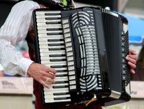 игрок аккордеони стоковое изображение