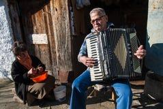 Игрок аккордеона в Греции стоковое фото rf