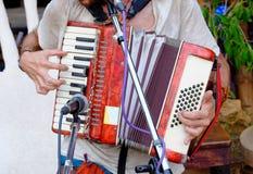 Игрок аккордеона стоковые фото