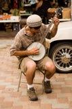 Игрок банджо Стоковая Фотография