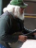 игрок банджо Стоковое Изображение