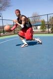 игрок баскетбола капая Стоковые Изображения