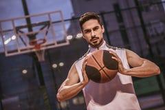 игрок баскетбола красивый Стоковое Изображение RF