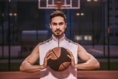 игрок баскетбола красивый Стоковое Изображение