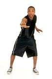 игрок баскетбола черный Стоковые Фотографии RF