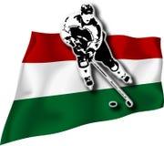 игрок Венгрии хоккея флага Стоковое фото RF