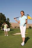 игрок в гольф довольно стоковые изображения rf