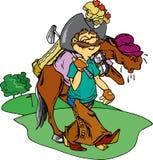 игрок в гольф ковбоя Иллюстрация штока