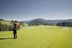 игрок в гольф Стоковое Фото