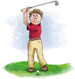 игрок в гольф Стоковая Фотография RF