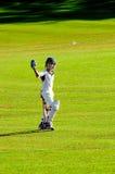 игрок в крикет мальчика Стоковое Изображение