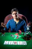 Игрок в покер Стоковые Фото