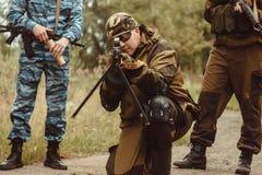 Игрок в airsoft Стоковые Фото