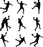 Игрок гандбола Иллюстрация вектора