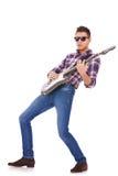 игрок гитары играя крен утеса Стоковые Фотографии RF