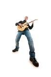 Игрок гитары изолированный на белизне Стоковые Изображения RF