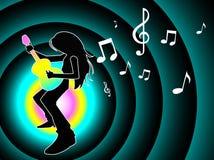 Игрок гитары радуги Стоковые Изображения