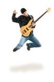 игрок гитары скача Стоковое Изображение RF