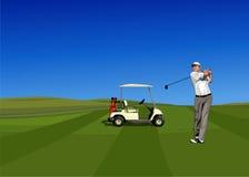 игрок гольфа Стоковые Изображения