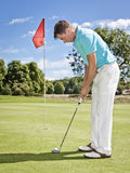 игрок гольфа стоковая фотография