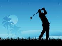 игрок гольфа Стоковое Изображение