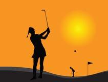 Игрок гольфа женщины Стоковые Фотографии RF