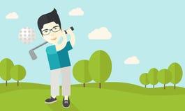 Игрок гольфа на поле Стоковые Изображения RF