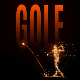 Игрок гольфа поли Стоковое фото RF