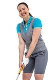 Игрок гольфа принимая съемку Стоковое Изображение RF