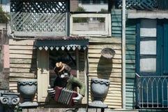 Игрок губной гармоники в Ла Boca Стоковое Изображение