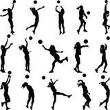 Игрок женщины волейбола Иллюстрация вектора