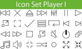 Игрок значка установленный i иллюстрация вектора
