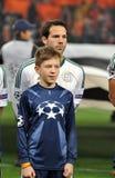 Игрок и мальчик Bayer Стоковое Изображение RF