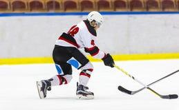 игрок иллюстрации льда хоккея конструкции вы Стоковые Изображения