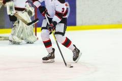 игрок иллюстрации льда хоккея конструкции вы Стоковые Изображения RF