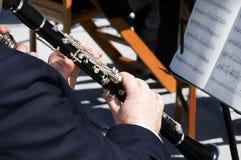 игрок кларнета Стоковые Фото