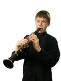 игрок кларнета Стоковое фото RF