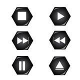 игрок кнопки Стоковые Изображения