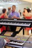 Игрок клавиатур на партии Стоковое Изображение
